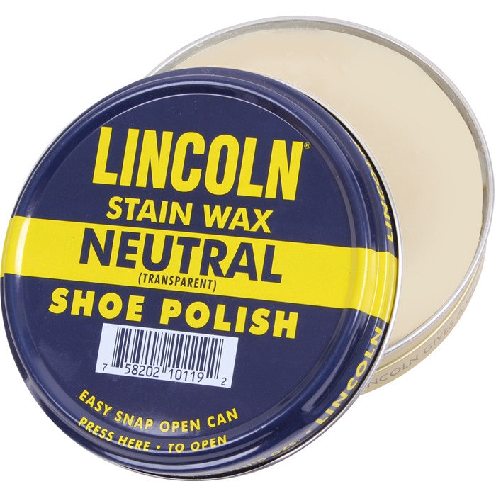 Lincoln Neutral - USMC Official Stain Wax Shoe Polish - USA Made