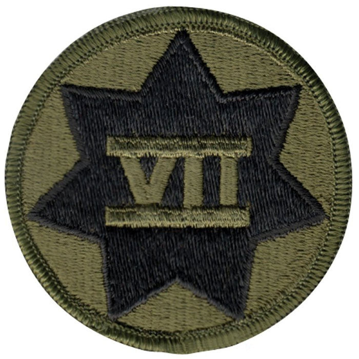 Subdued - US Army 7th Corp Military Patch 2.5 in.