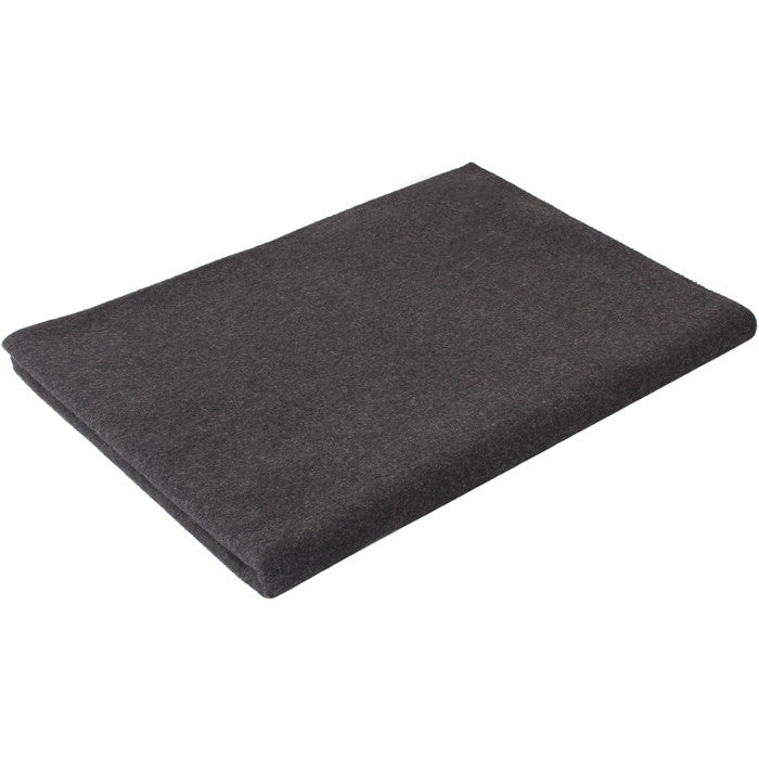 Grey - Warm Winter Blanket 62 in. x 80 in. - Wool