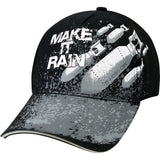 Black - Military Deluxe Low Profile Make It Rain Adjustable Baseball Cap