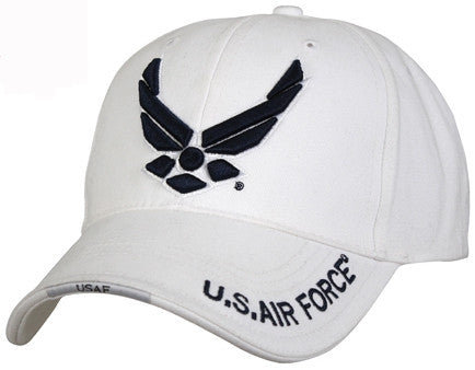 White - Air Force Wing Low Profile Adjustable Baseball Cap