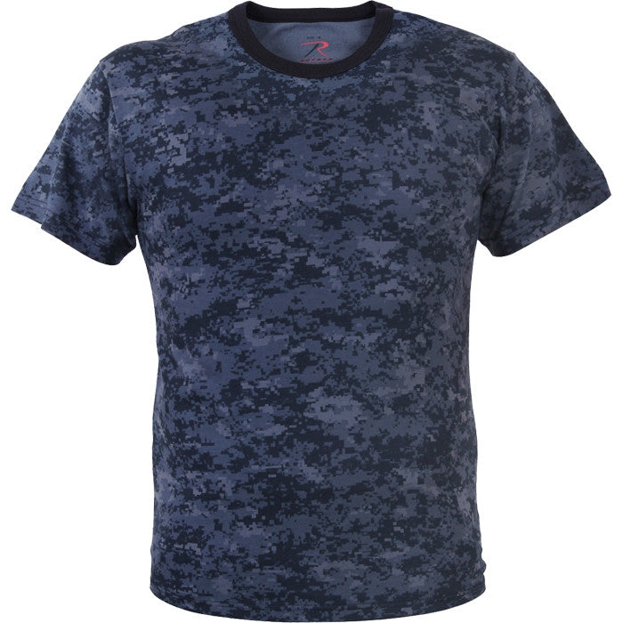 Digital Midnight Camouflage - Military T-Shirt