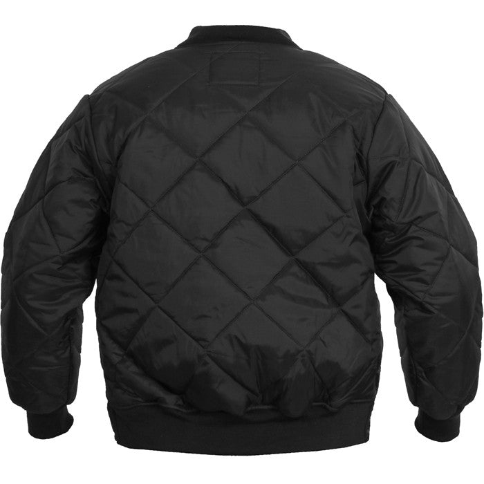 Black - Diamond Quilted Urban Flight Jacket