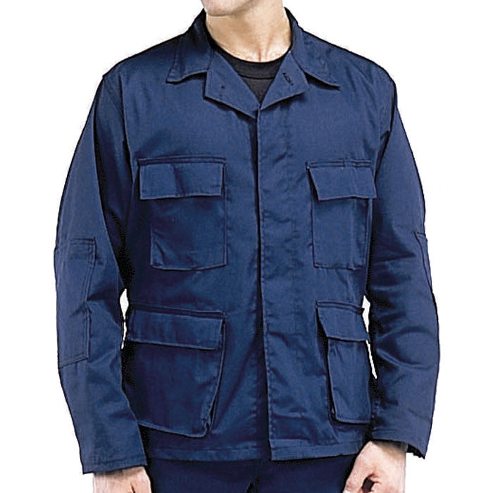 Midnight Blue - Military BDU Shirt - Polyester Cotton Twill