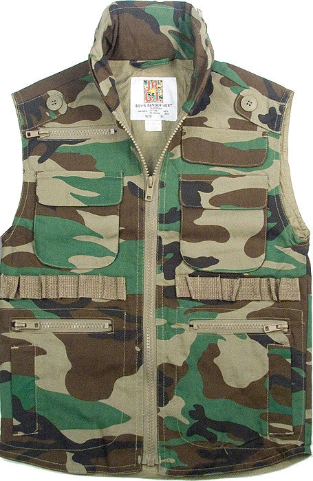 8bea3f35816d6 Woodland Camouflage - Kids Outdoor Ranger Vest - Army Navy Store
