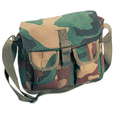 Woodland Camouflage - Army Ammo Shoulder Bag