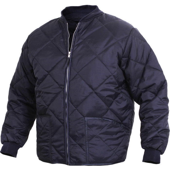 Navy Blue - Diamond Quilted Flight Jacket - Army Navy Store : quilted flight jacket - Adamdwight.com