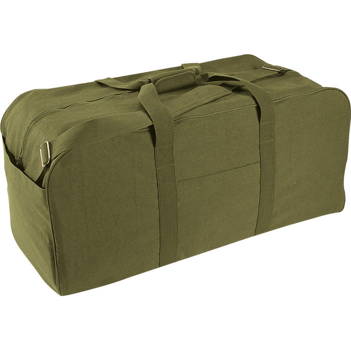 Olive Drab - Military GI Style Jumbo Deluxe Cargo Bag - Canvas