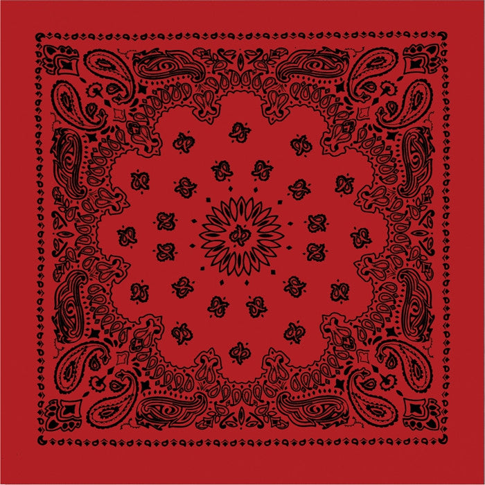 Red   Black - Trainmen Jumbo Bandana 27 in. x 27 in.