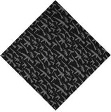 Black - Guns & Rifles Pattern Bandana 22 in. x 22 in.