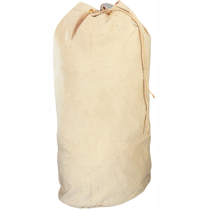 White Natural - US Navy Travel Sea Bag - Cotton Canvas