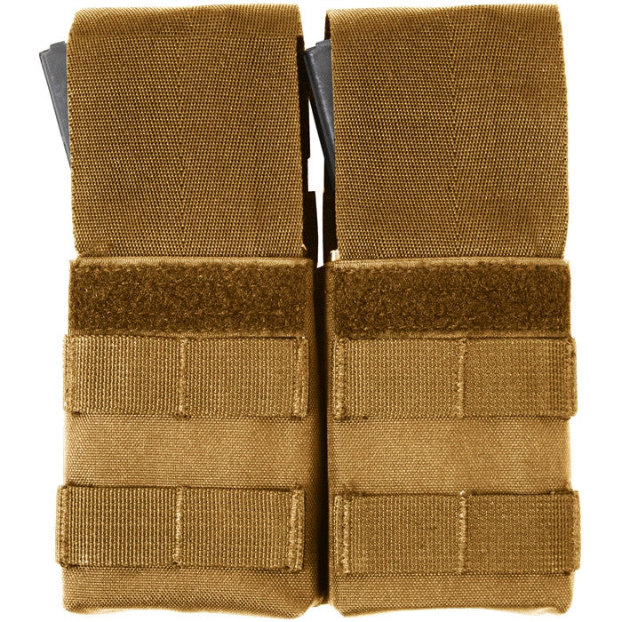 Coyote Brown - Tactical MOLLE Double M-16 Mag Pouch