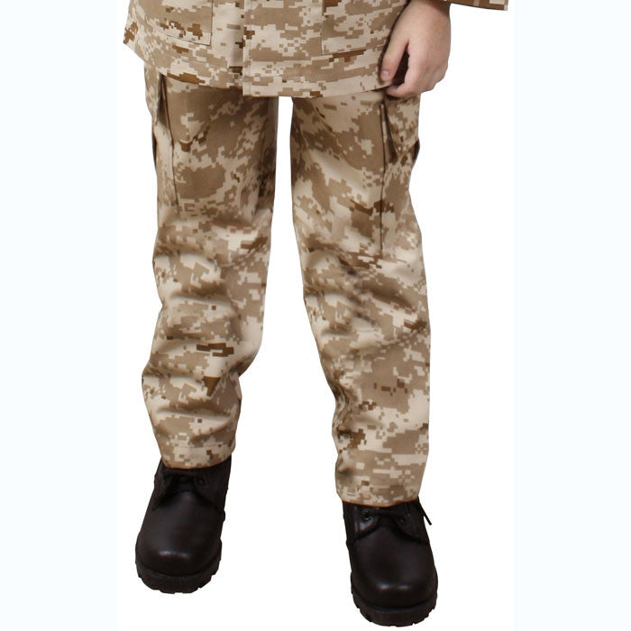 Digital Desert Camouflage - Kids Military BDU Pants