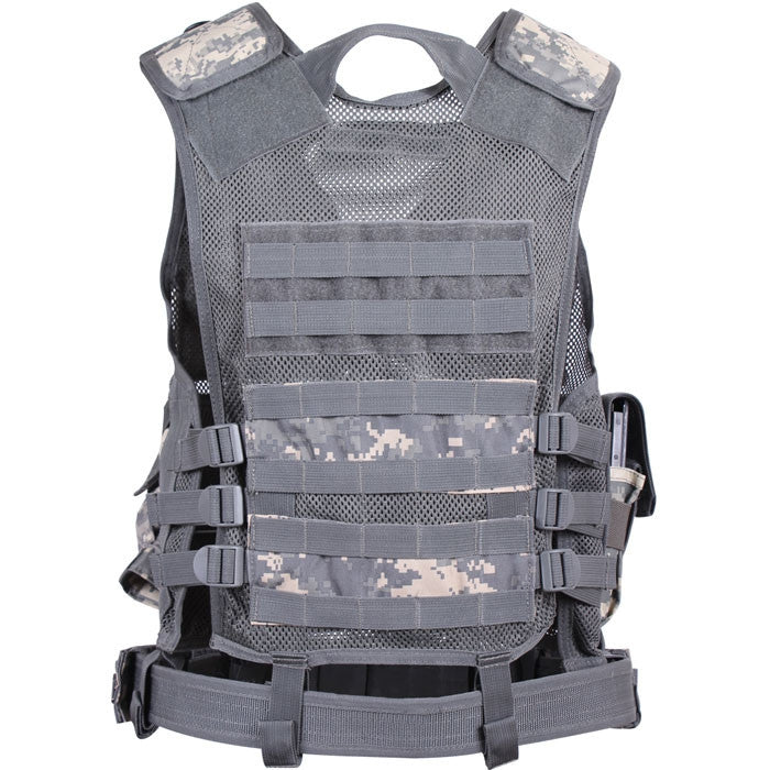 ACU Digital Camouflage - MOLLE Compatible Cross Draw Tactical Vest