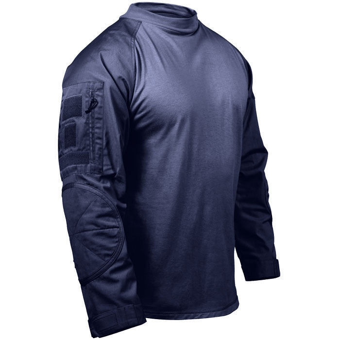 Navy Blue - Military Tactical Lightweight Flame Resistant Combat Shirt