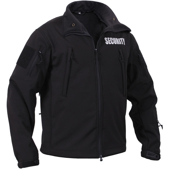 Black - Special Ops Soft Shell Security Jacket