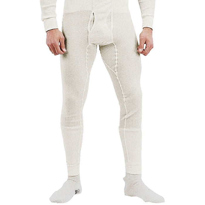 Natural White - Cold Weather Thermal Knit Underwear Pants - Cotton Polyester