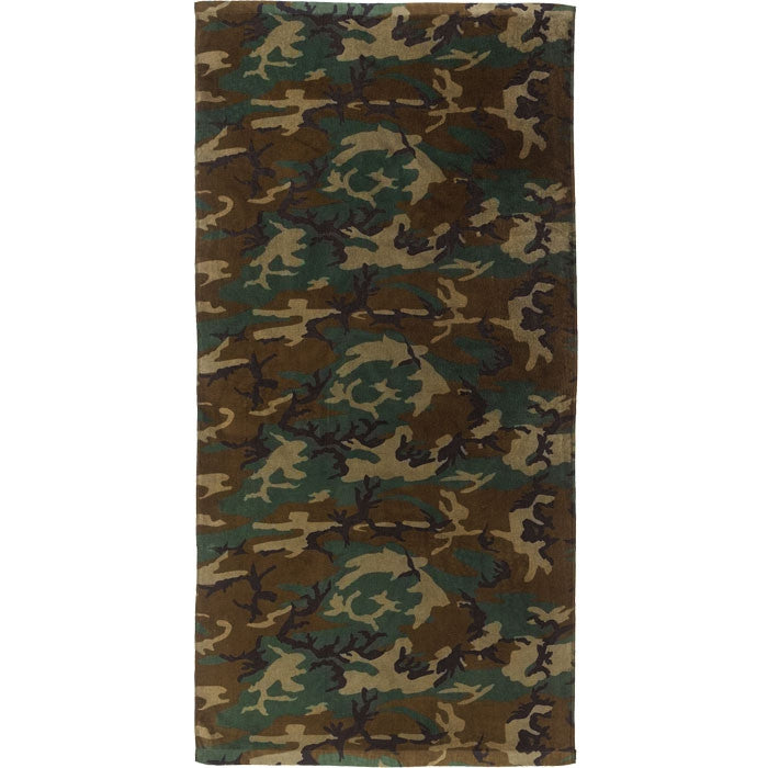 Woodland Camouflage - Military Beach Towel
