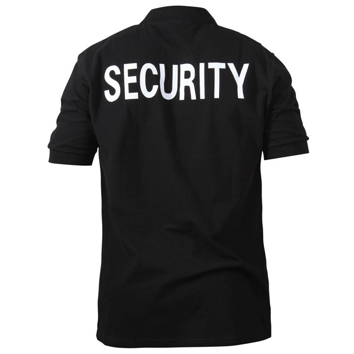 Black - Two Sided Law Enforcement SECURITY Golf Shirt