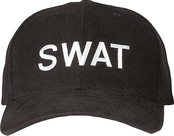 Black - Law Enforcement SWAT Adjustable Cap