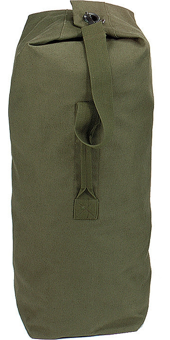 Olive Drab - Military Standard Top Load Duffle Bag - Cotton Canvas