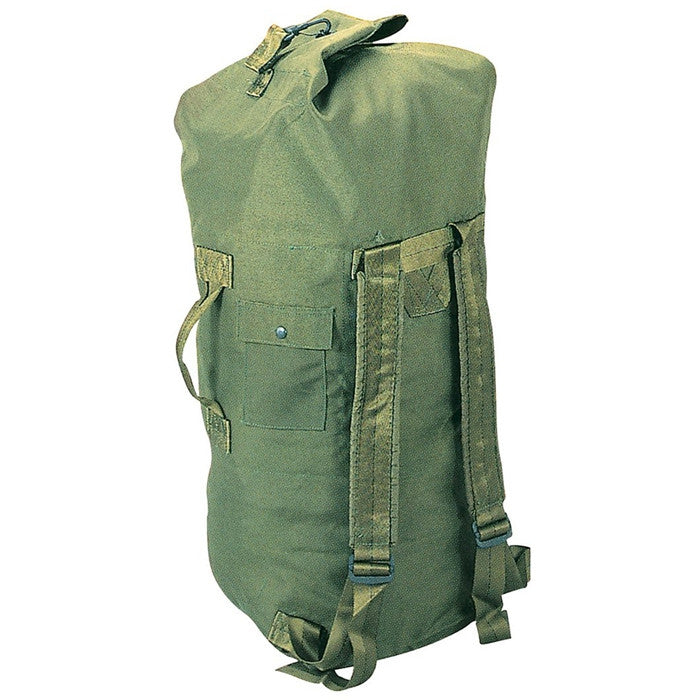 Olive Drab - Military Enhanced Double Strap Duffle Bag 24 in. x 36 in. - Cordura Nylon