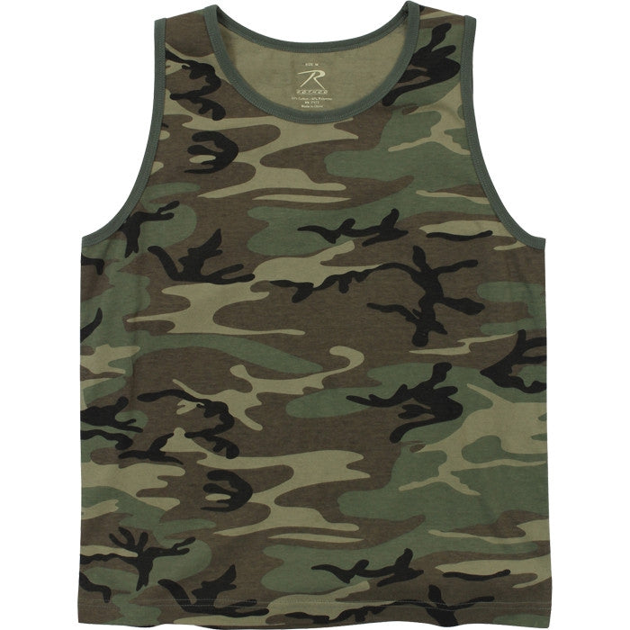 Woodland Camouflage - Vintage Military Tank Top