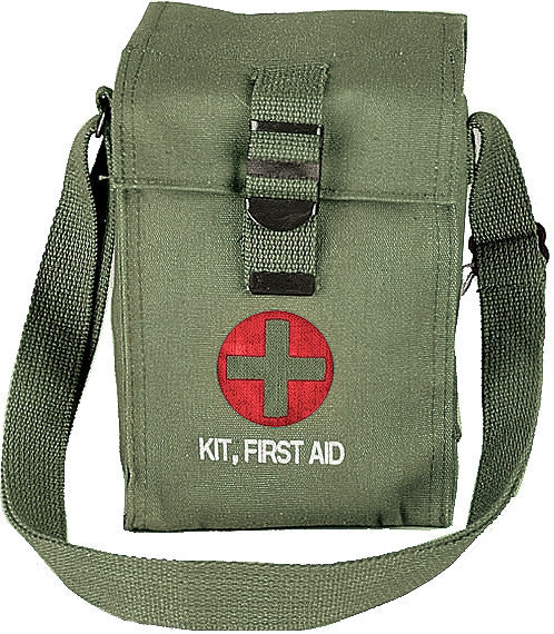 Olive Drab - Platoon Leaders First Aid Pouch with No Contents