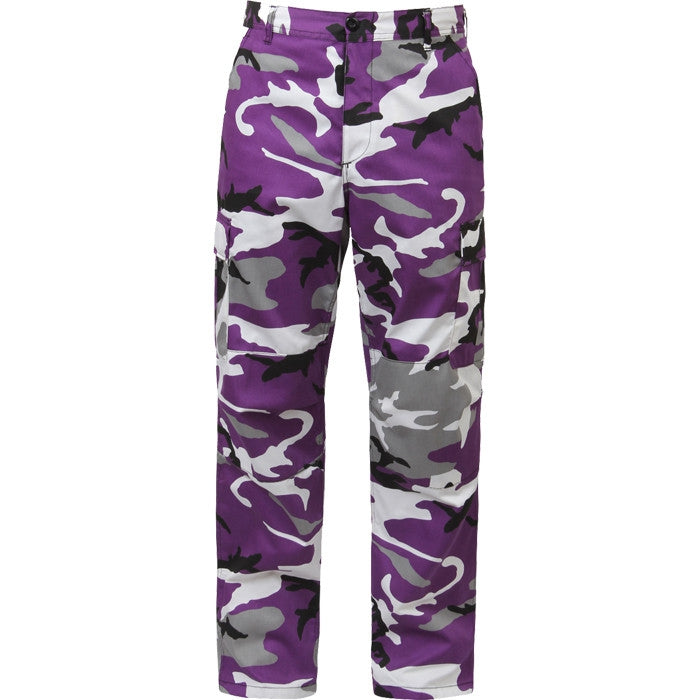 Ultra Violet Camouflage - Military BDU Pants - Polyester Cotton Twill