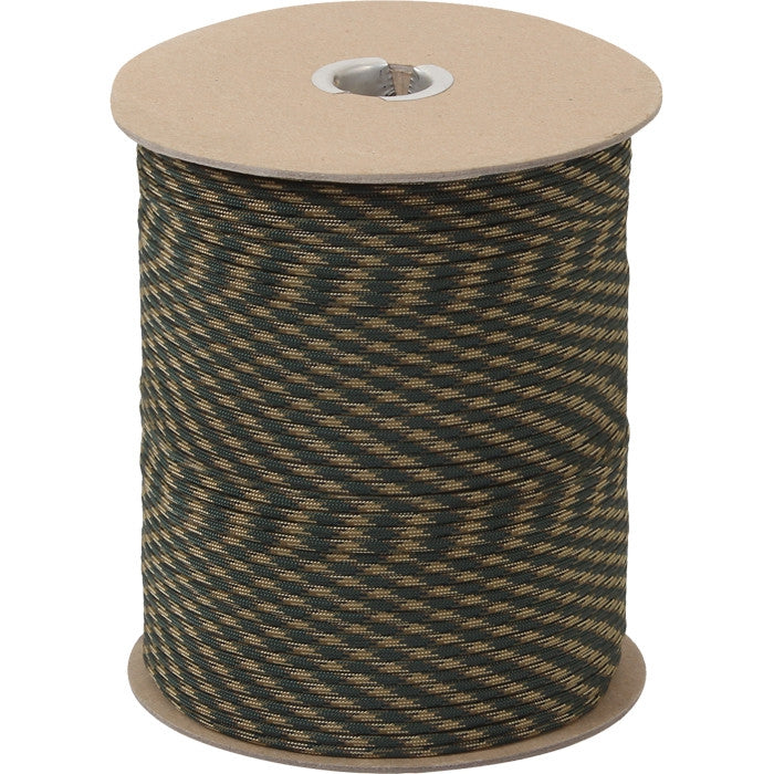 Woodland Camouflage - Military Grade 550 LB Tested Type III Paracord Rope 1000' - Nylon USA Made