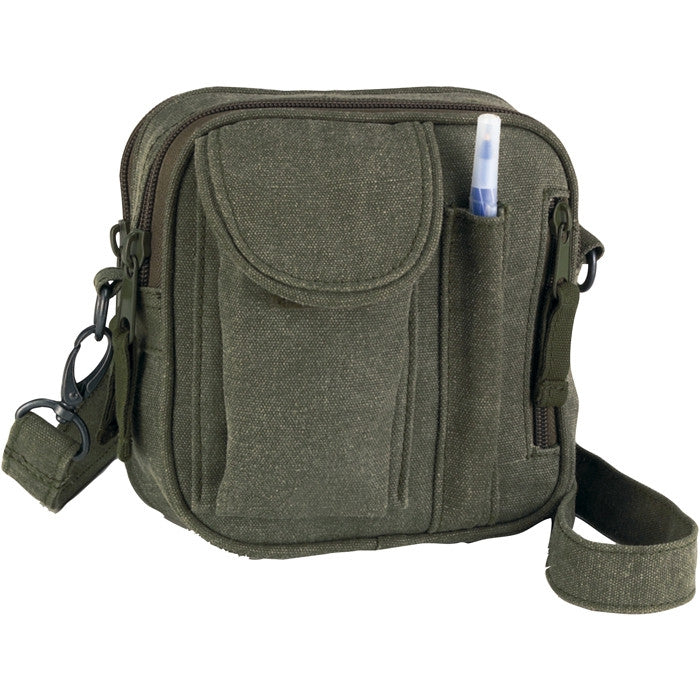 Sage Green - Military Excursion Organizer Shoulder Bag