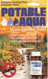 Potable Aqua Military Water Purification Tablets - USA Made