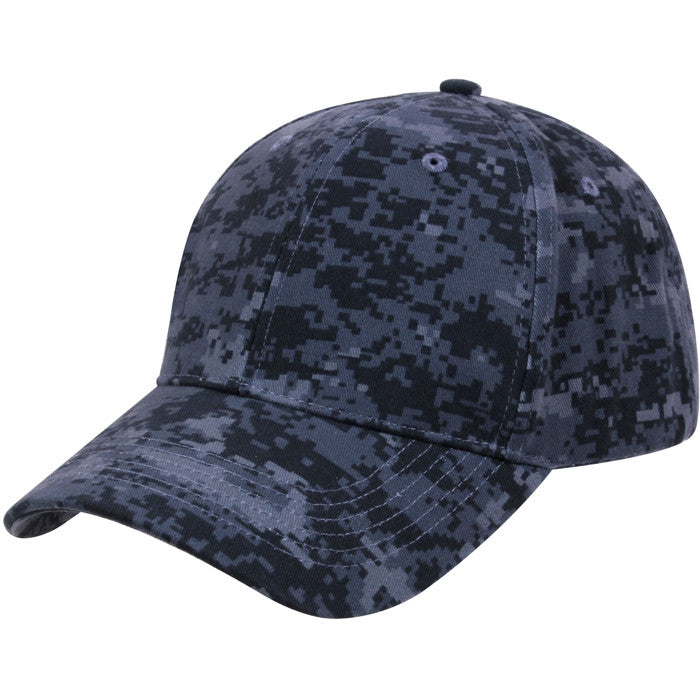 Digital Midnight Camouflage - Military Low Profile Adjustable Baseball Cap