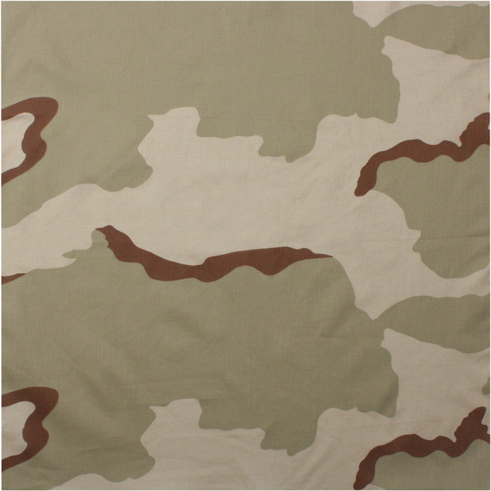 Tri-Color Desert Camouflage - Military Bandana 22 in. x 22 in.