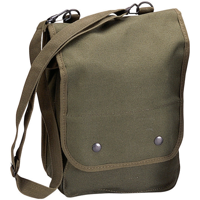 Army Heavy Canvas Tech Bag Military Map Case Shoulder Pack Tablet Carry Pouch