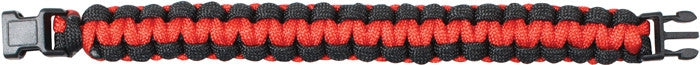 Red   Black - Cobra Weave Paracord Bracelet