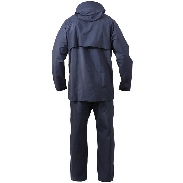 Navy Blue - Microlite 2-Piece Pants Shirt Lightweight Rain Suit