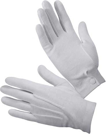 White - Gripper Dot Dress Parade Gloves