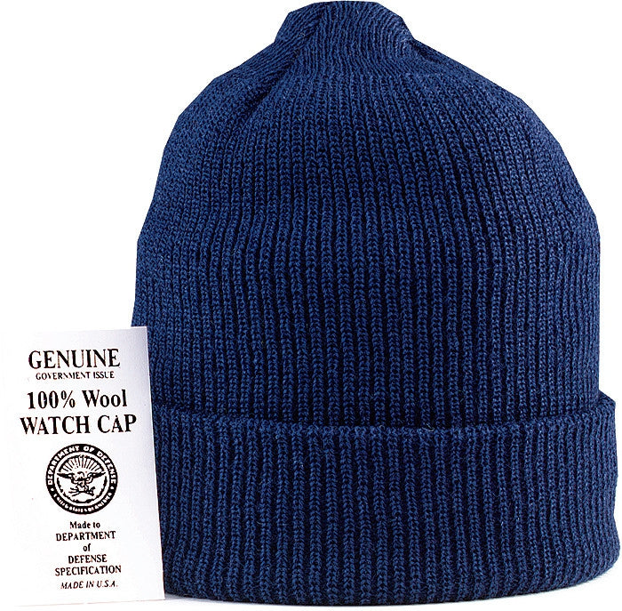 Navy Blue - Genuine GI US Navy Watch Cap - Wool USA Made