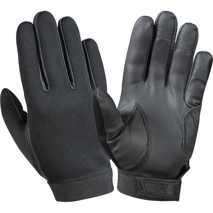 Black - Law Enforcement Tactical Duty Gloves - Neoprene