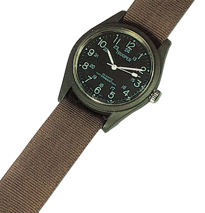 Olive Drab - Military GI Style SWAT Watch