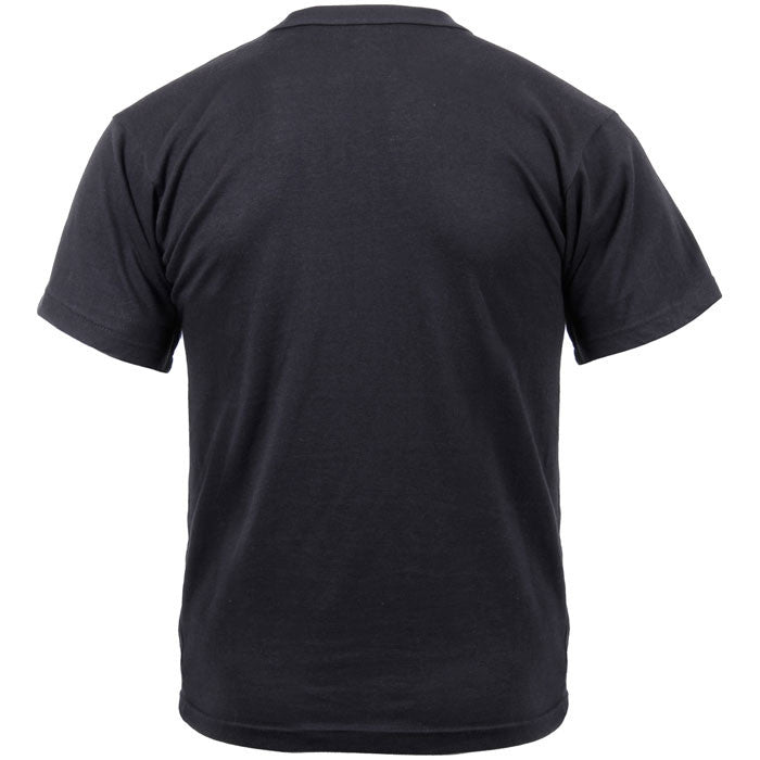Black - Military GI Type Short Sleeve T-Shirt - Polyester Cotton