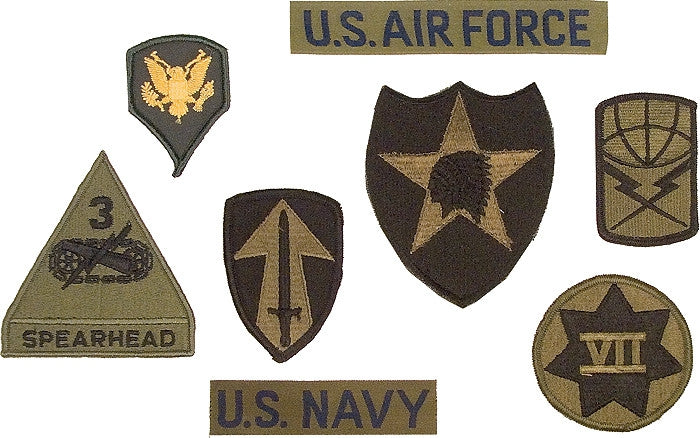 Subdued - Assorted Military Sew On Patches 100 Pack