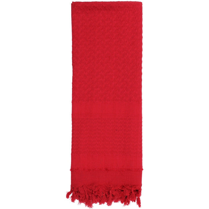 Red - Solid Color Shemagh Tactical Desert Scarf