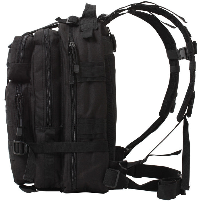 Black - Military MOLLE Compatible Medium Transport Pack