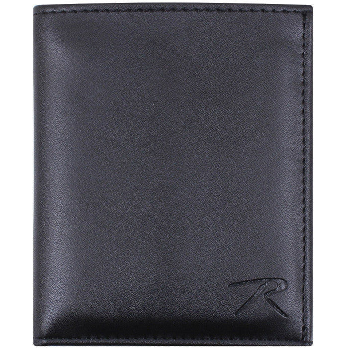 Black Leather ID and Badge Foldable Wallet for Law Enforcement