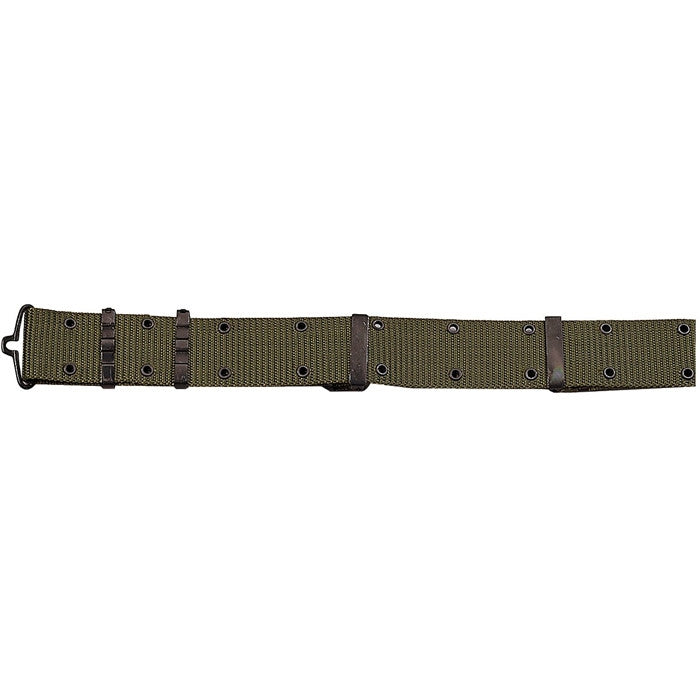 Olive Drab - Army Style Pistol Belt with Metal Buckle - Nylon