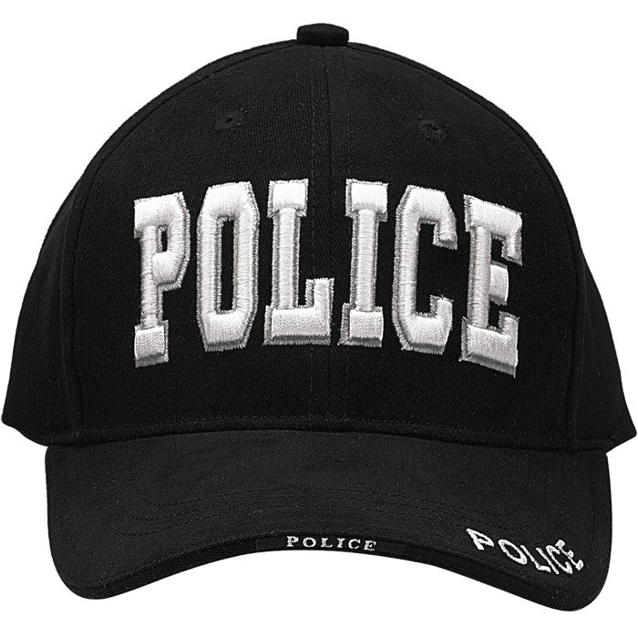 Black - Law Enforcement POLICE Deluxe Low Profile Adjustable Cap