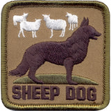 Sheep Dog Patch with Hook Back