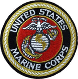 Deluxe US MARINE CORPS Sew On Patch with USMC Emblem 3 in.